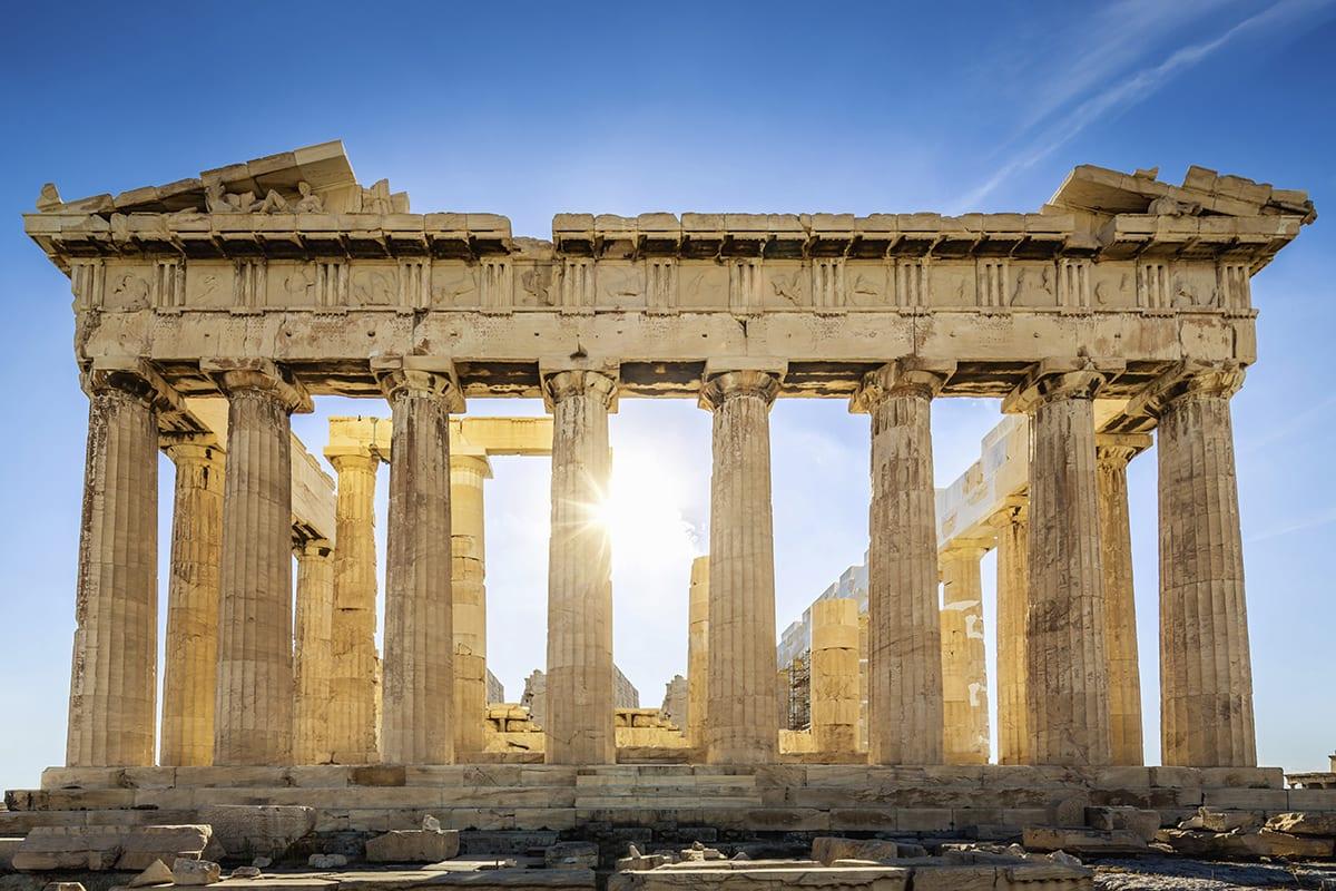 معبد البارثينون باليونان