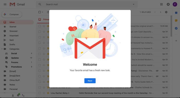 اهم مميزات بريد gmail بعد تحديث جوجل الاخير