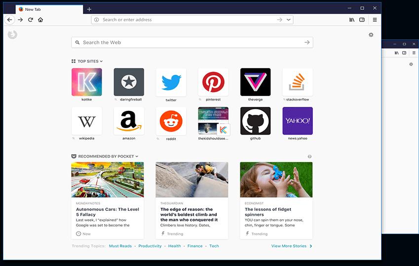 اهم مميزات متصفح فايرفوكس الجديد Firefox Quantum