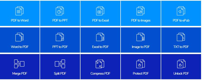 تحويل ملفات PDF الى اي صيغة وتأمينها بكلمة سر