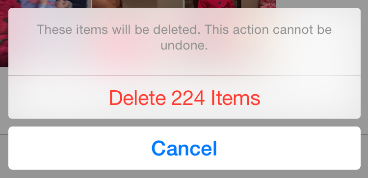 حذف الصور من الايفون