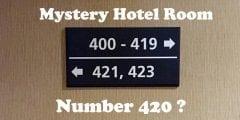 سر اختفاء الغرفة رقم 420 من فنادق الولايات المتحدة الأمريكية