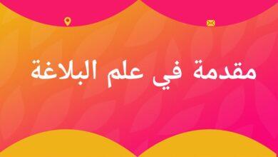 صورة بحث عن البلاغة في اللغة العربية doc