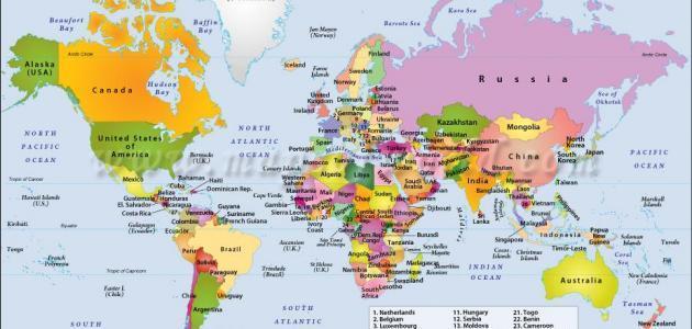 كم عدد قارات العالم ودولها وأسمائهم معلومات عنهم