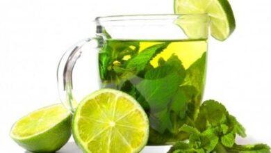 الشاي الاخضر مع الليمون