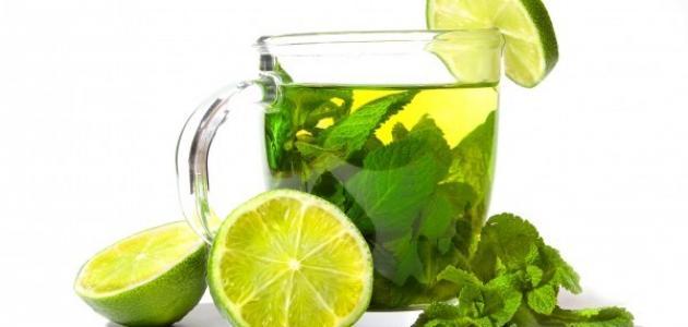 فوائد الشاي الاخضر مع الليمون على الريق