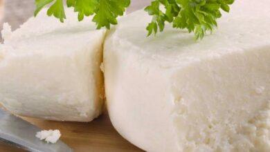 السعرات الحرارية في الجبنة البيضاء
