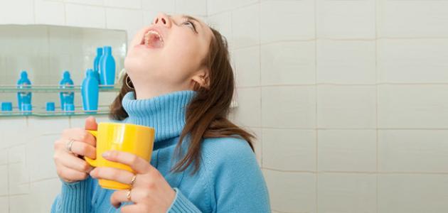 الماء والملح لفطريات الفم